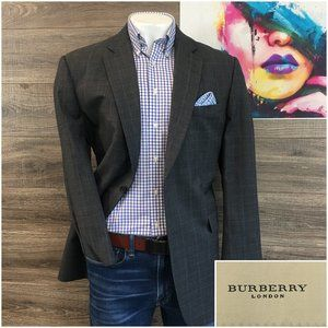 Burberry London Mens Sport Coat Jacket Blazer Wool